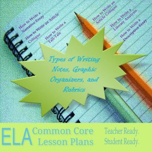 TYpes of Writing Lesson Plans