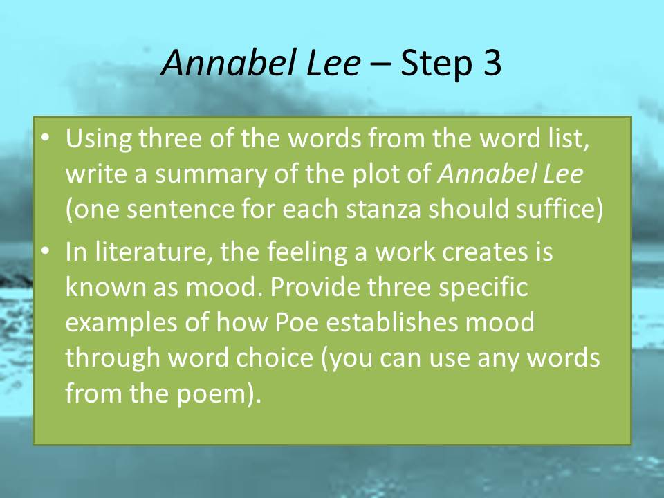 Annabel lee essay
