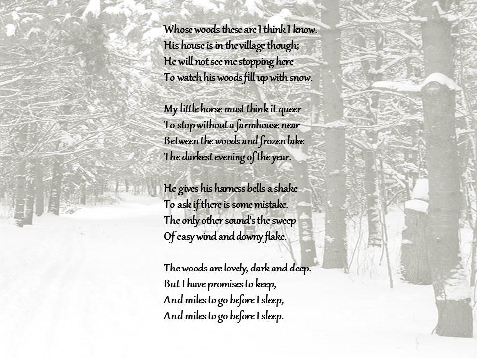 wood pile robert frost Derek walcott a parody of frost, on the other hand would use the doggerel of the greeting card the trap is the poem, which snaps back at us and catches our fingers.