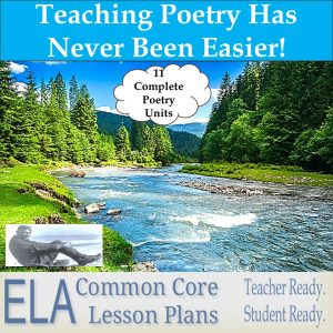 Poetic picture with link to poetry lesson plans.